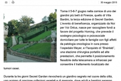 Secret Garden, tre giorni di eventi per aiutare i bambini del Meyer - Repubblica.it