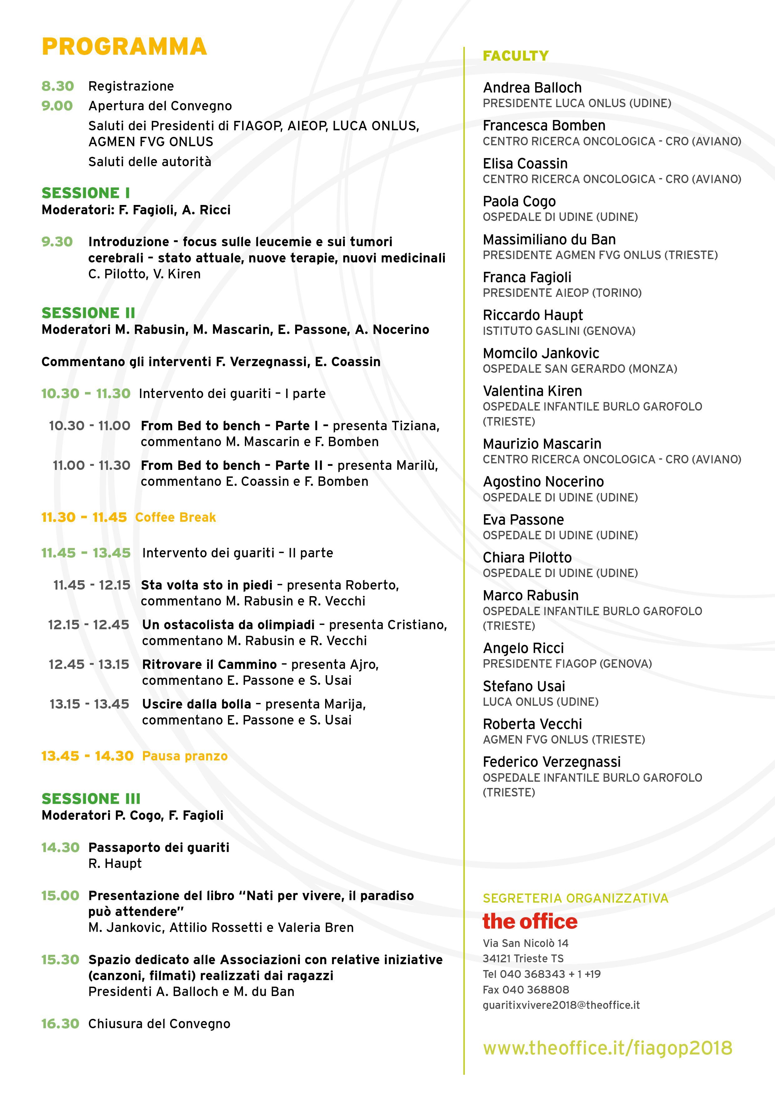 Programma Convegno 2018