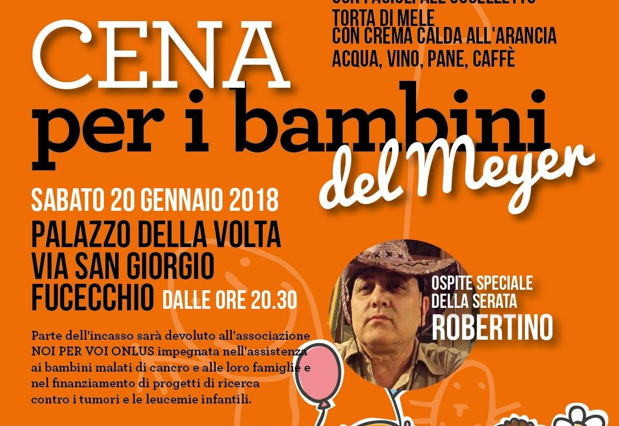 cena beneficenza Fucecchio 2018