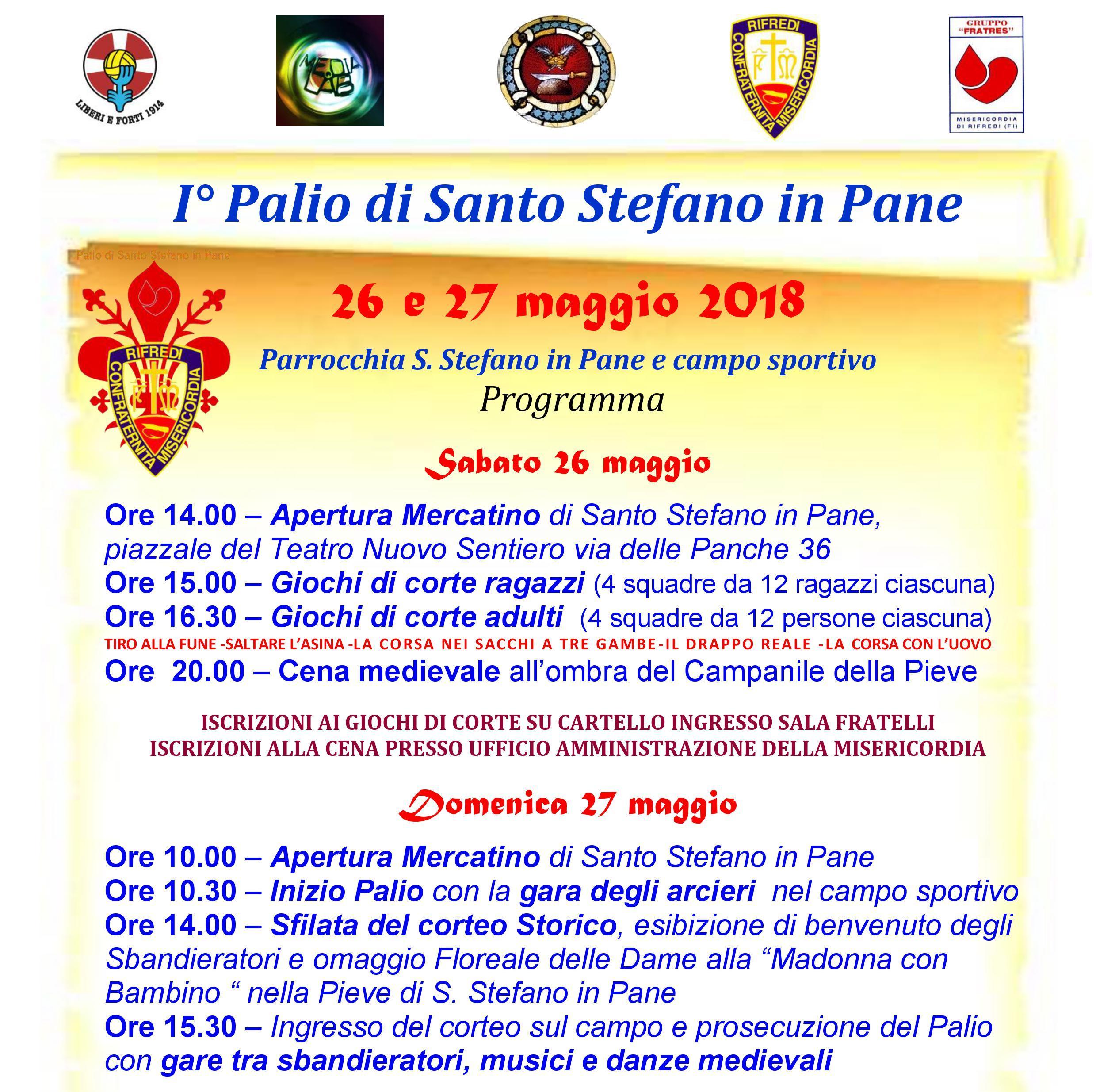 Programma Palio Santo Stefano in Pane