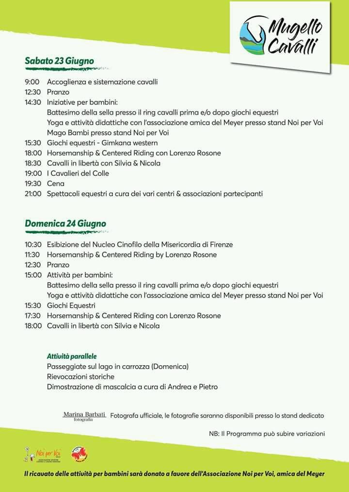 Programma Mugello Cavalli