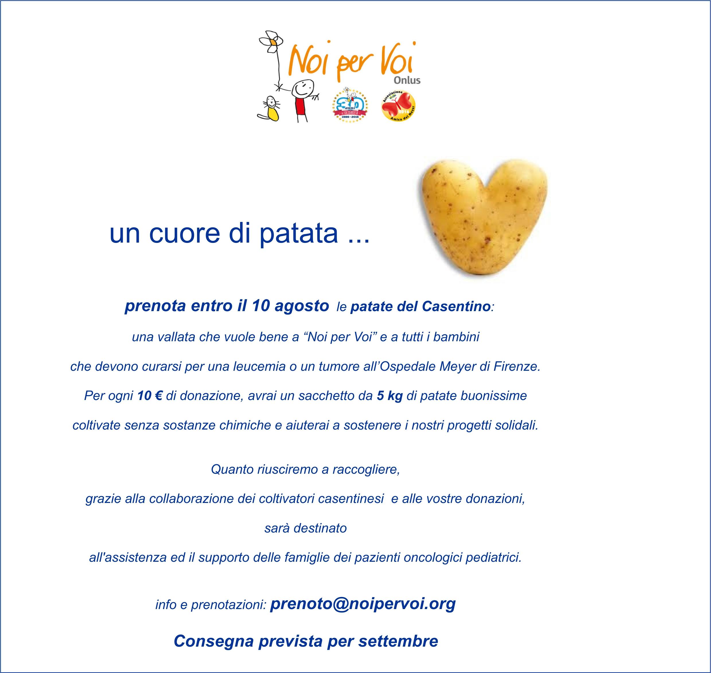 raccolta fondi patate