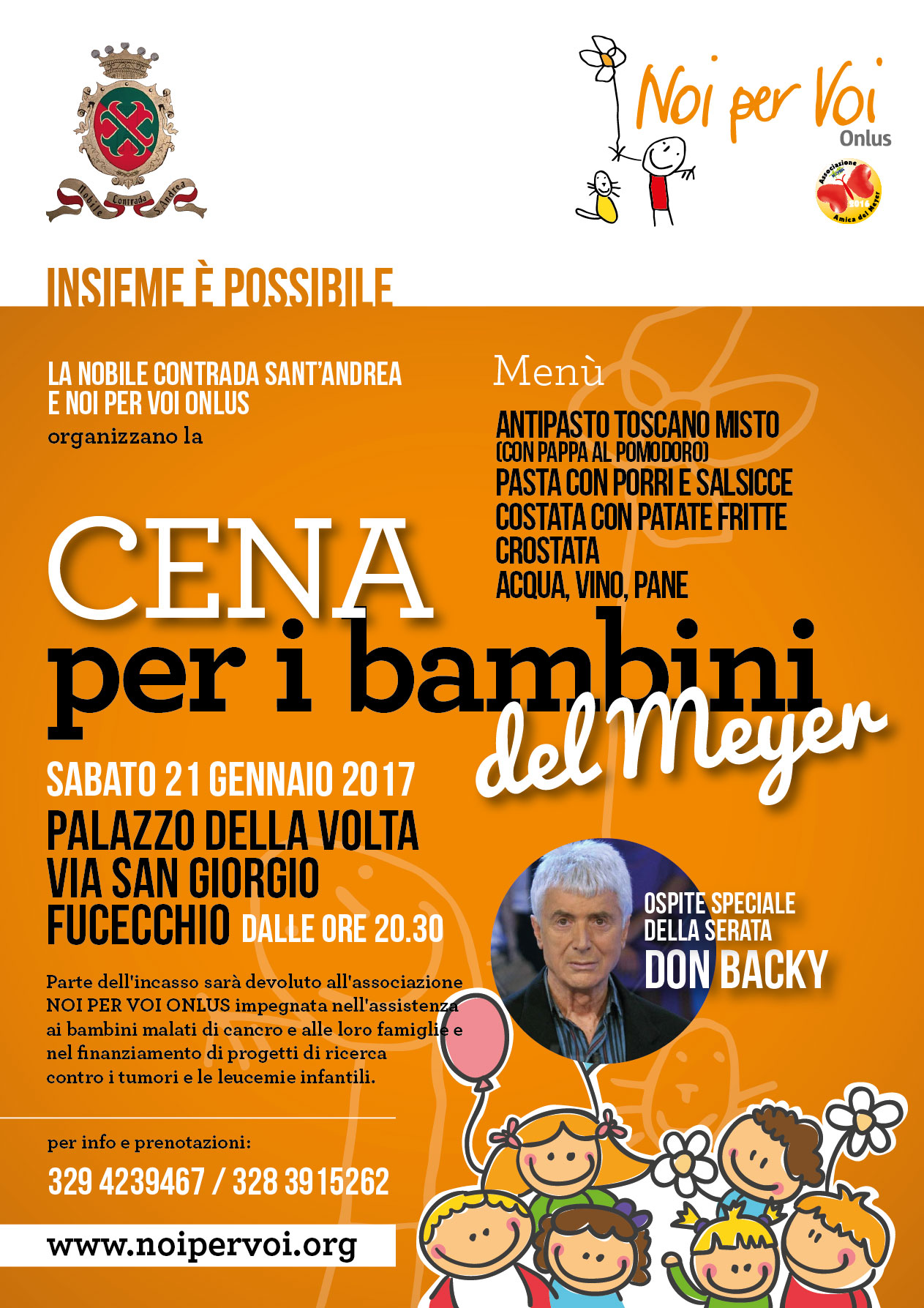 Cena di Beneficenza per il Meyer