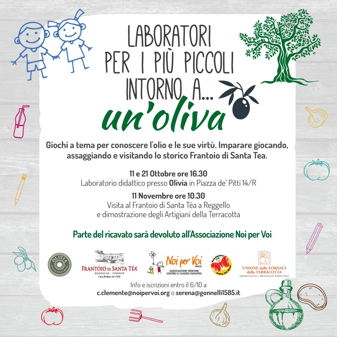laboratorio intorno a una oliva